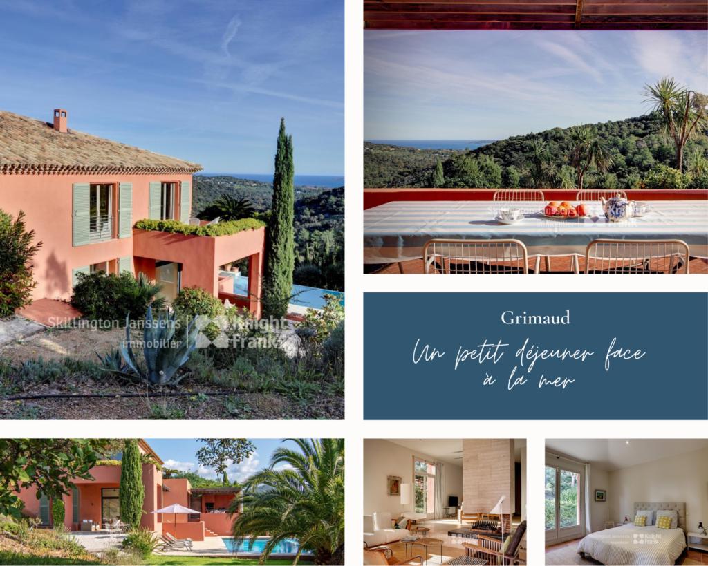 Sublime villa nichée à flanc de colline et vous offrant une vue spectaculaire sur le Golfe de Saint-Tropez