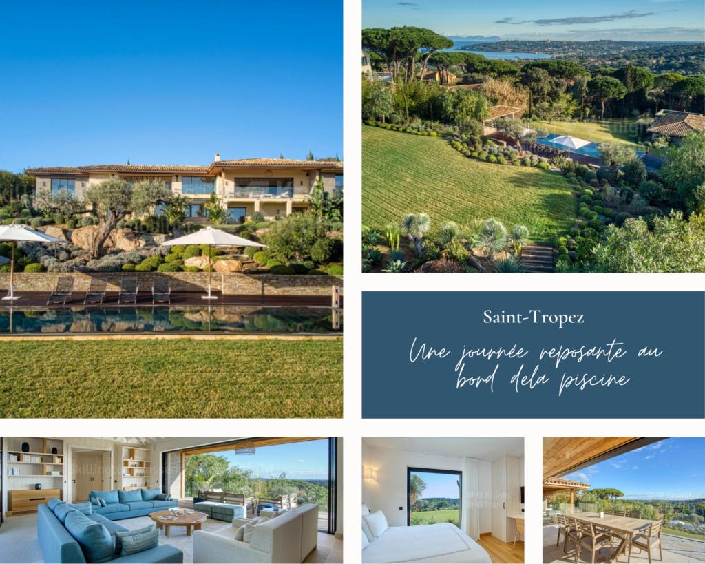 Magnifique maison avec vue mer à Saint-Tropez dans un domaine privé et sécurisé.