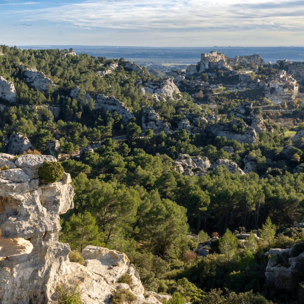 Les Alpilles vue sur Les Baux de Provence